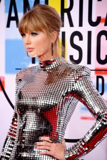 Taylor Swift Sexy Silver Dress