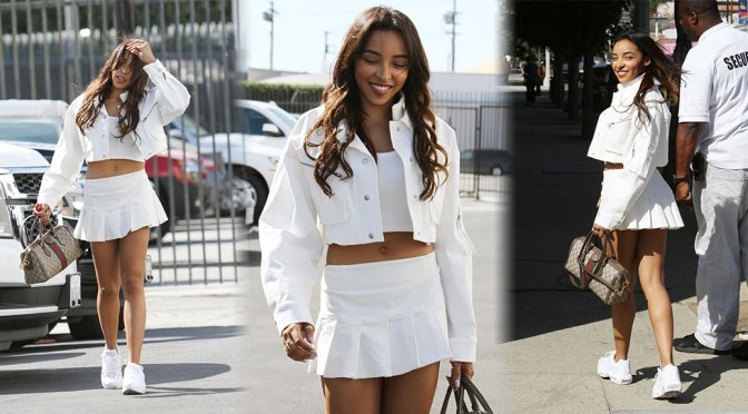 "Tinashe – Leggy at ""Dancing With The Stars"" Studio in Los Angeles"