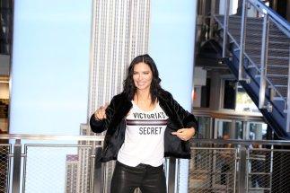 Adriana Lima Sexy Tight Leather Pants