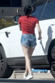 Ariel Winter Sexy Braless In Red
