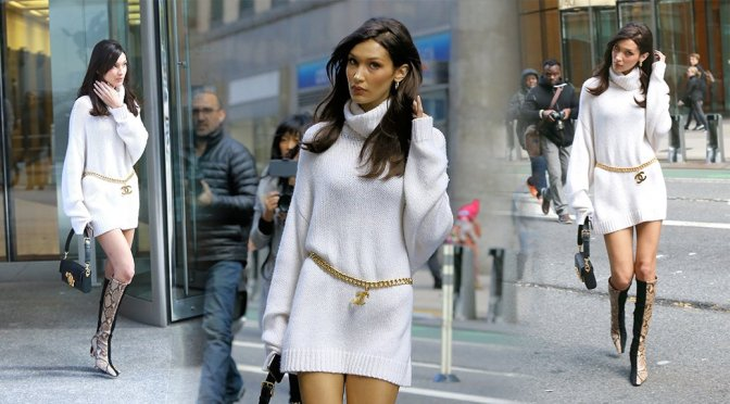 Bella Hadid – Sexy Candis at Victoria's Secret Headquarters in New York