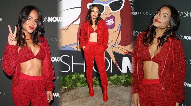 Christina Milian – Fashion Nova x Cardi B Collaboration Launch Event in Hollywood