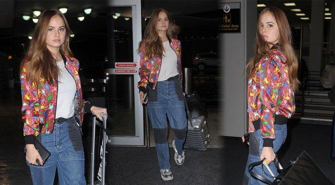 Debby Ryan – Candids at JFK Airport in New York