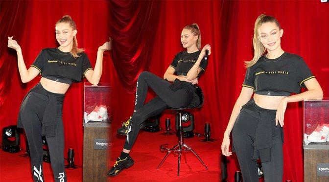 """Gigi Hadid – Reebok Classic """"Future Nostalgia"""" Party in Tokyo"""