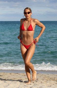 Jasmine Sanders In Red Bikini