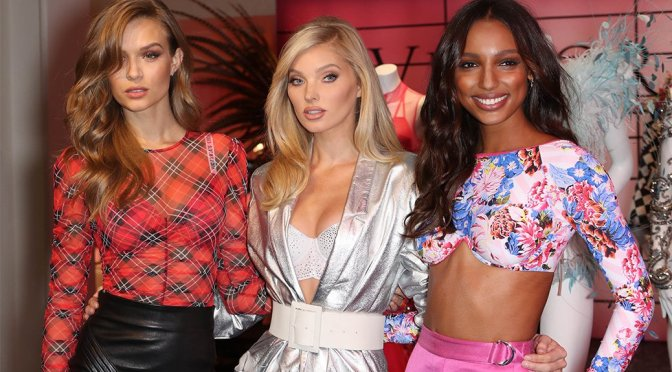 Jasmine Tookes, Josephine Skriver and Elsa Hosk – Victoria's Secret Shop The Show Event in New York