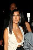 Kourtney Kardashian Braless Huge Cleavage