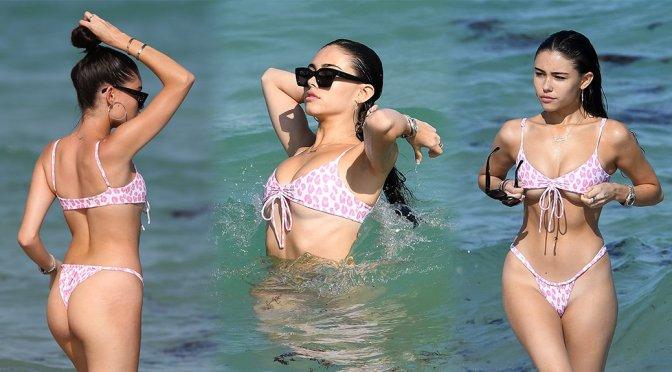Madison Beer – Small Bikini Candids in Miami
