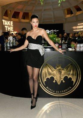 Adriana Lima Sexy Black Dress