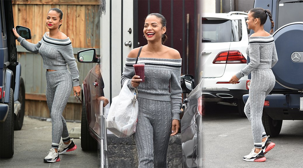 Christina Milian - Sexy Candids in Studio City