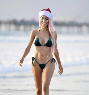 Farrah Abraham Christmas Bikini Photoshoot