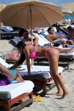 Karrueche Tran Sexy Pink Bikini
