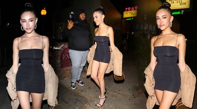 Madison Beer – Sexy Little Dress at Delilah in West Hollywood