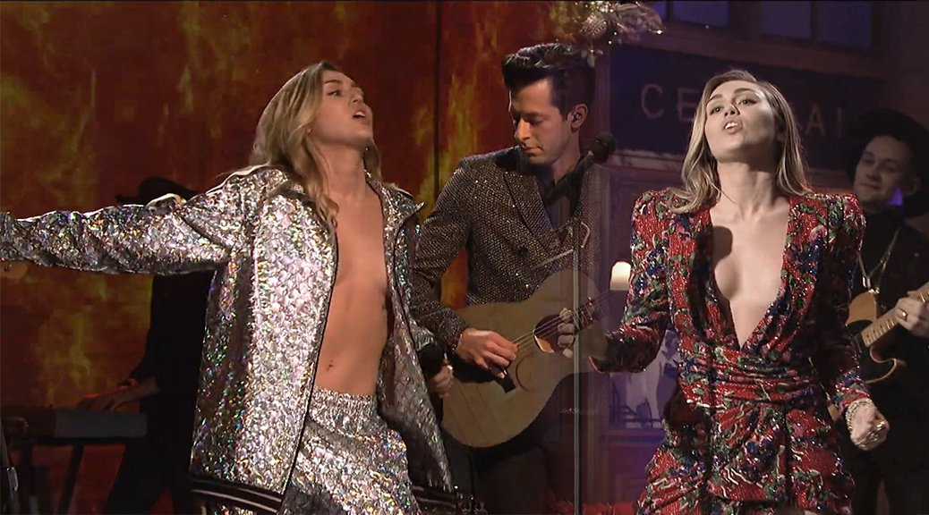 Miley Cyrus Performs Live on Saturday Night Live in New York