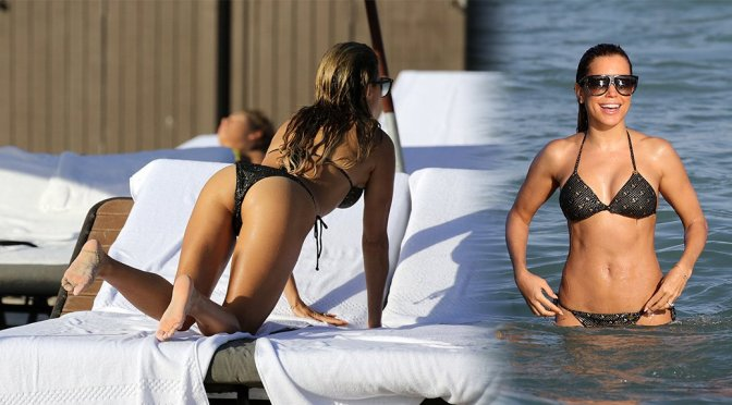Sylvie Meis in a Bikini on the Beach in Miami