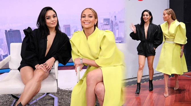 "Vanessa Hudgens & Jennifer Lopez on Telemundo's ""Un Nuevo Dia"" in Miami"