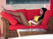 Yazmin Oukhello Sexy In Yellow Bikini