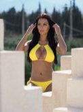 Yazmin Oukhello Sexy In Yellow Bikini