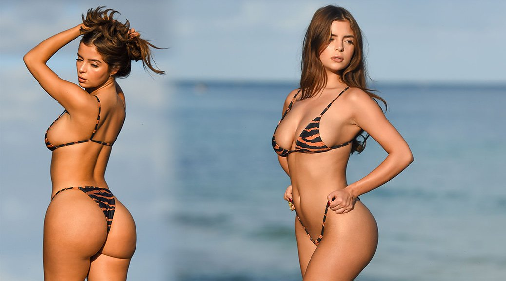 Demi Rose Mawby - Bikini Photoshoot Candids in Tulum