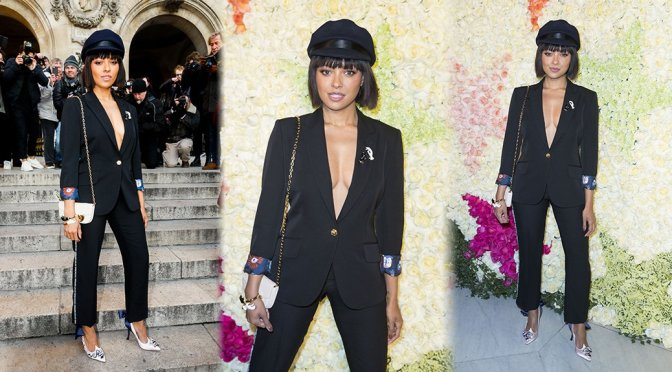 Kat Graham – Schiaparelli Fashion Show in Paris