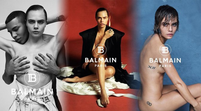 "Cara Delevingne – ""Balmain"" Naked Photoshoot"