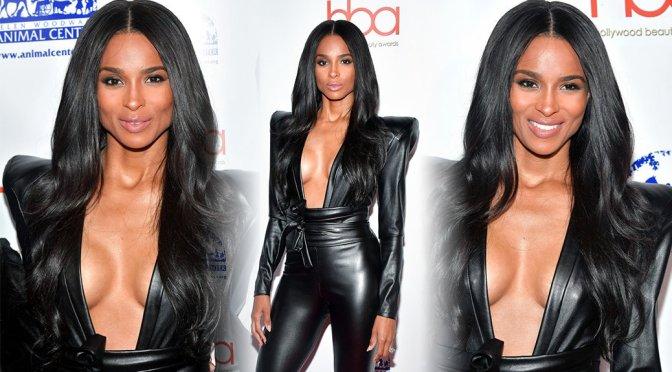Ciara Sexy Boobs In Low Cut Top