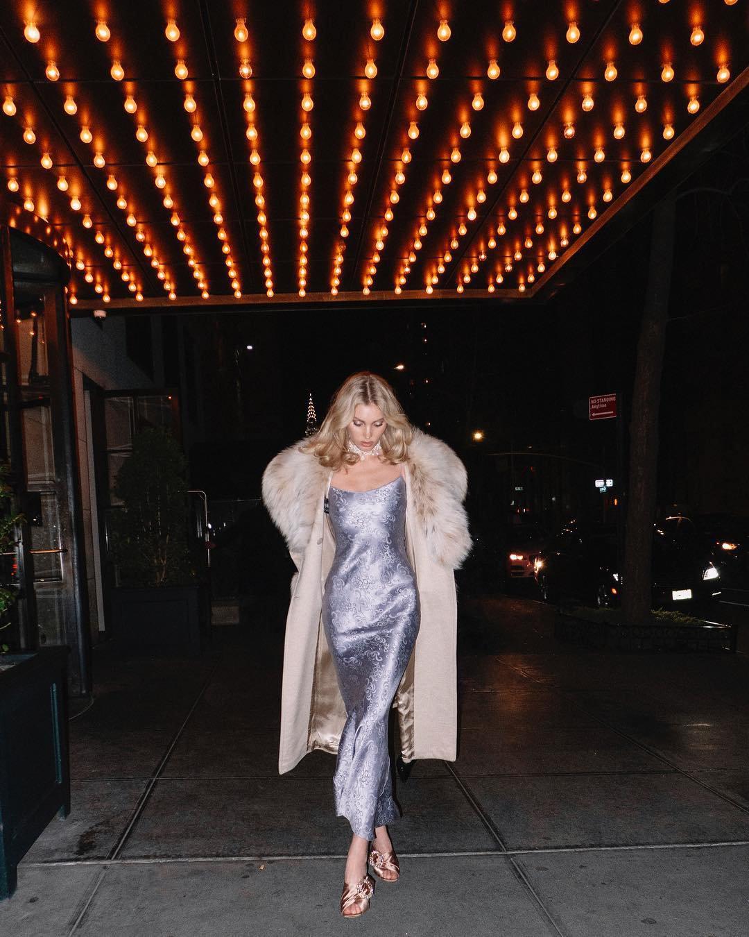 Elsa Hosk Sexy Dress