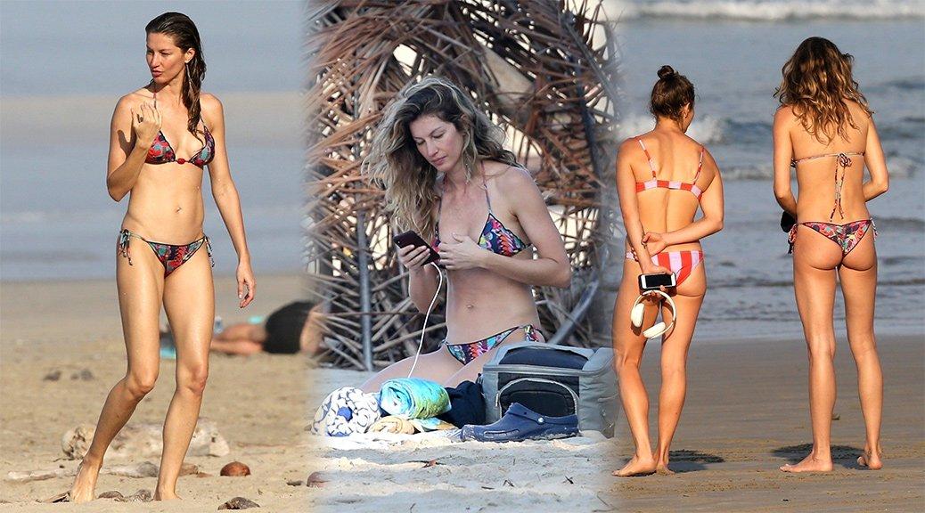 Gisele Bundchen - Bikini Candids in Costa Rica