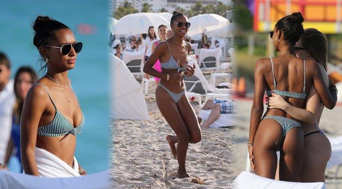 Jasmine Tookes – Bikini Candids in Miami