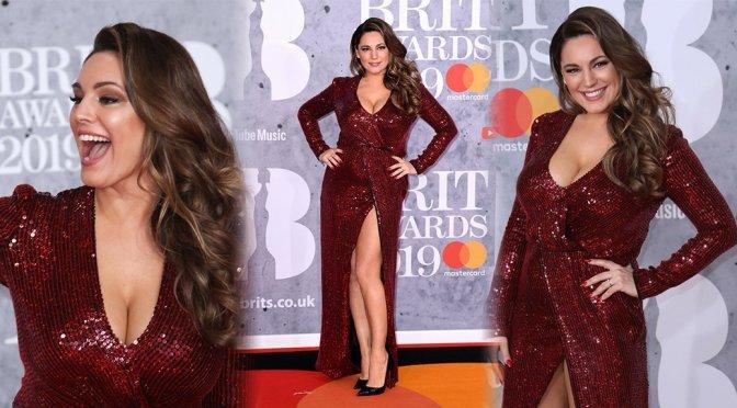 Kelly Brook – Brit Awards 2019 in London