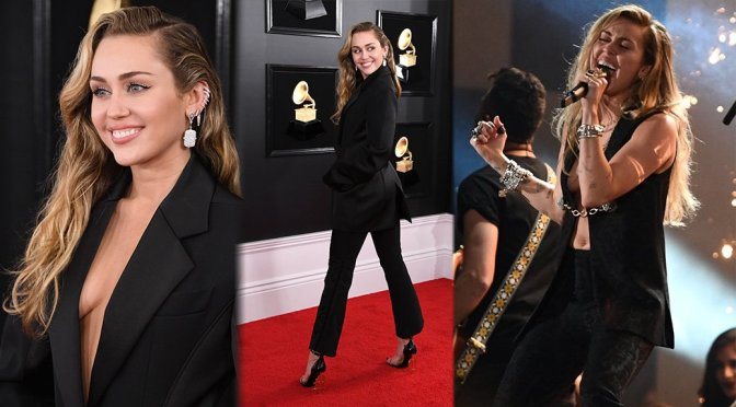 Miley Cyrus – 61st Annual GRAMMY Awards in Los Angeles