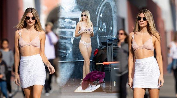 Rachel McCord – See-Through Bra Photoshoot in Los Angeles