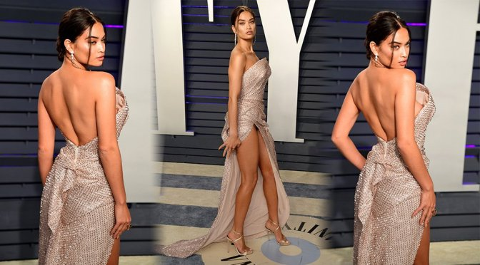 Shanina Shaik – 2019 Vanity Fair Oscar Party in Beverly Hills (Nipslip & Upskirt)