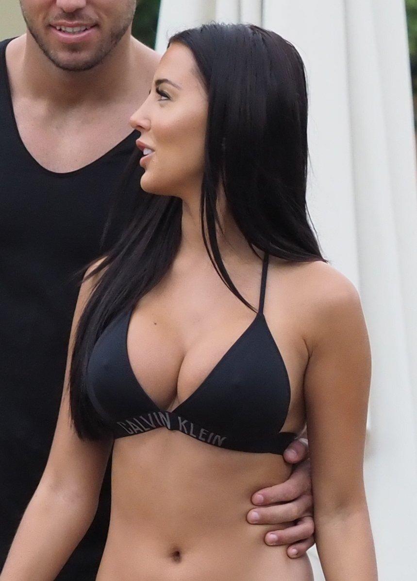 Yazmin Oukhellou – Bikini Candids in Marrakesh