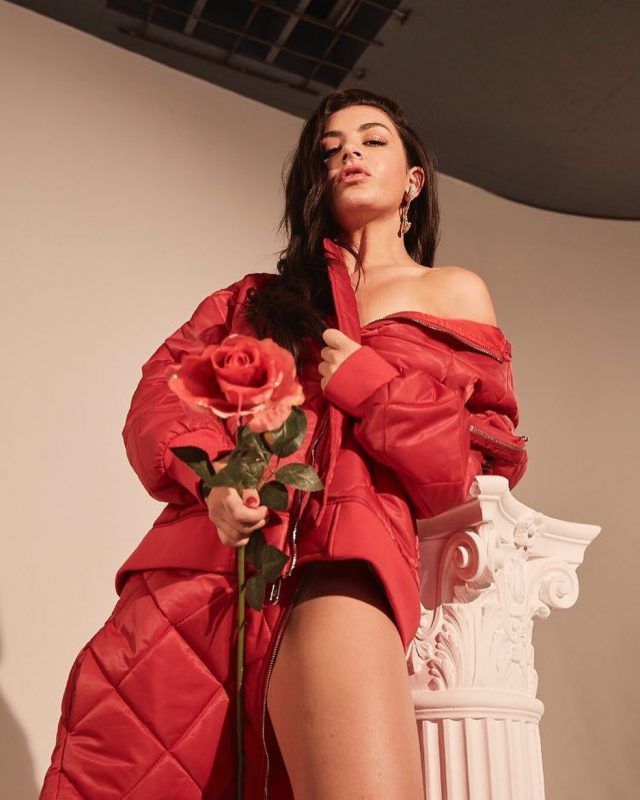 Charli Xcx Posing With Rose