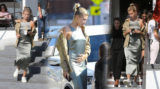 Hailey Baldwin – Braless Candids in Laguna Beach
