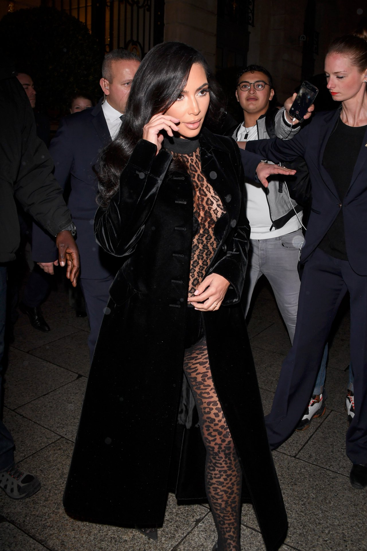 Kim Kardashian Hot In Skimpy Outfit