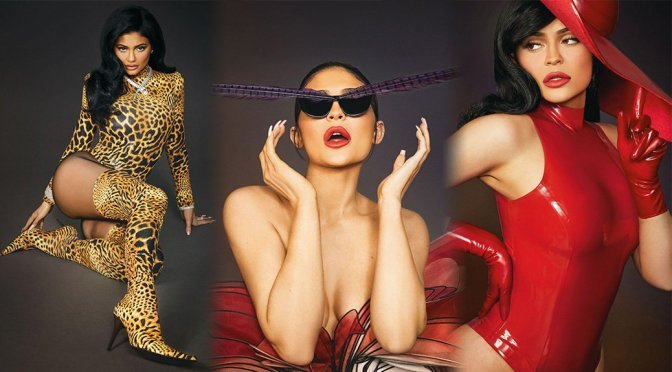 Kylie Jenenr Hot in Red Latex for Interview Magazine