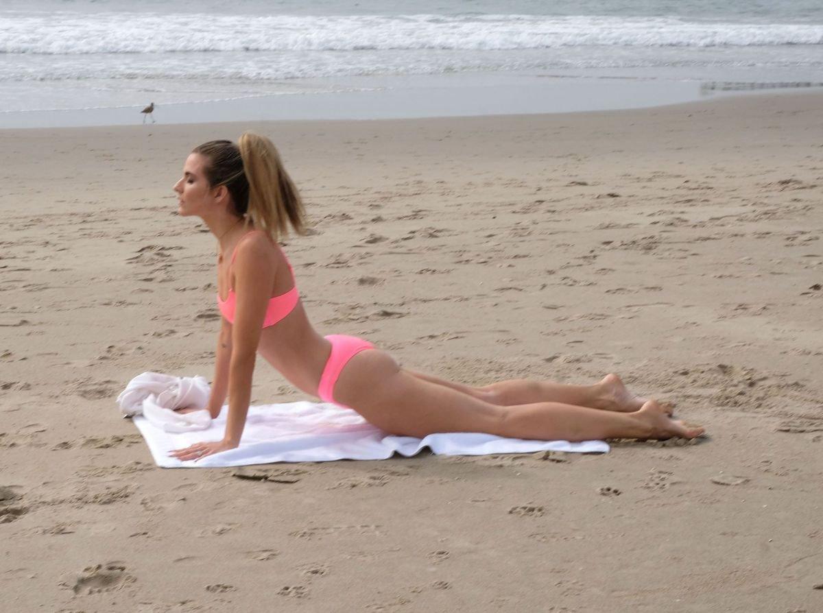 Rachel Mccord Sexy Bikini Yoga