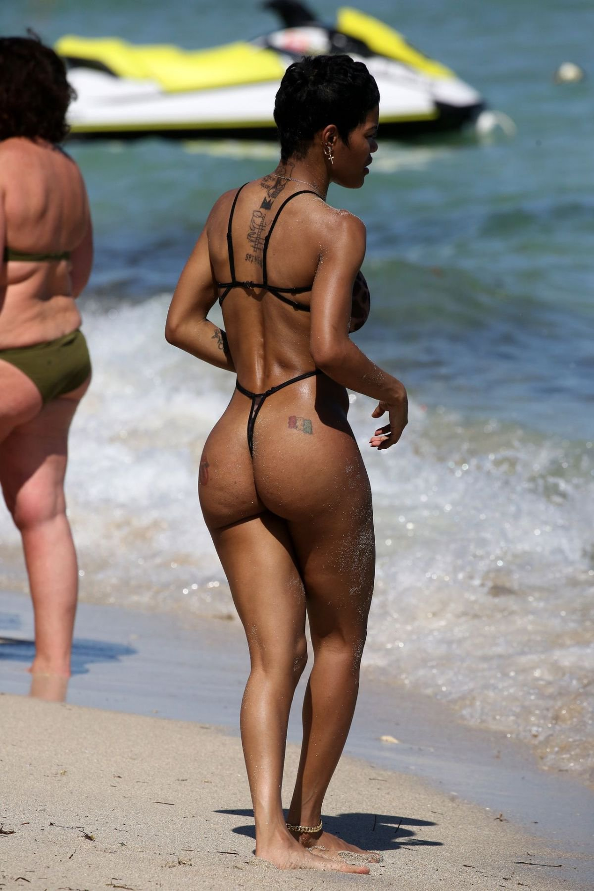 Teyana Taylor See Through Swimsuit