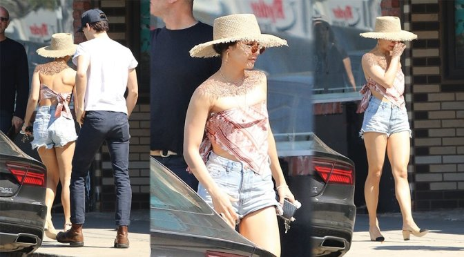 Vanessa Hudgens – Leggy Candids in Los Angeles