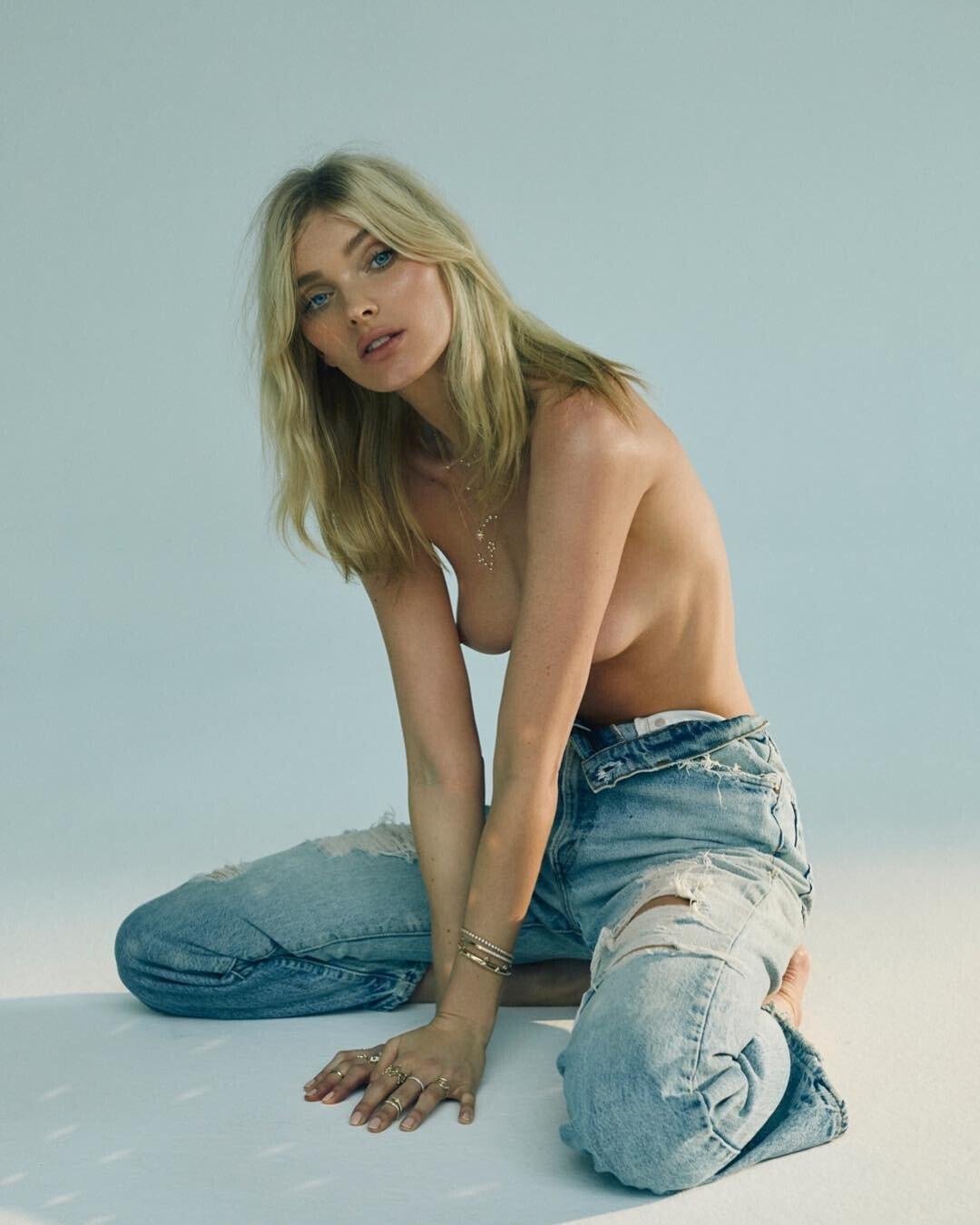 Elsa Hosk – Logan Hollowell Jewelry Topless Photoshoot (NSFW)