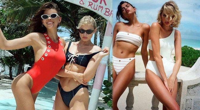 "Elsa Hosk & Georgia Fowler – ""Solid & Striped"" Swimwear Photoshoot"