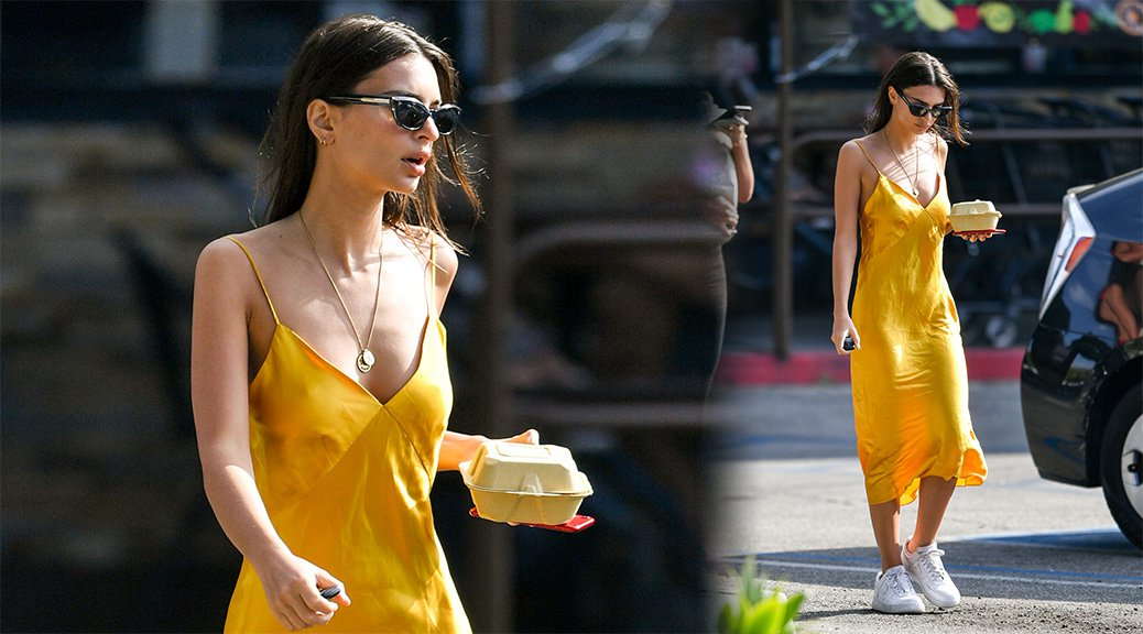 Emily Ratajkowski - Braless Candids in Los Angeles
