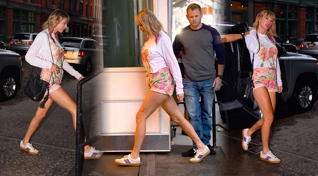 Taylor Swift - Leggy Candids in New York