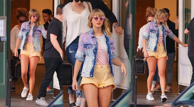 Taylor Swift – Sexy Legs in Shorts in New York