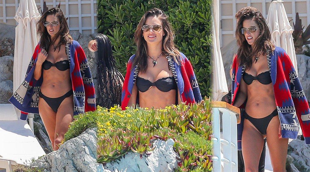 Alessandra Ambrosio - Bikini Candids in Cannes