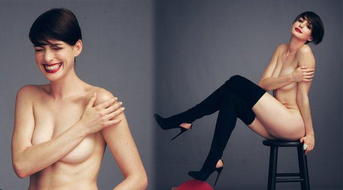 Anne Hathaway – Harper's Bazaar Magazine Naked Photoshoot by Alexi Lubomirski (NSFW)