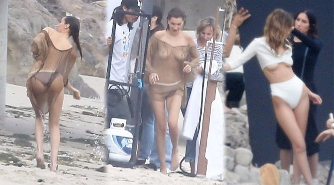 Bella Hadid Exposing Her Sexy Breasts While Posing For A Shoot