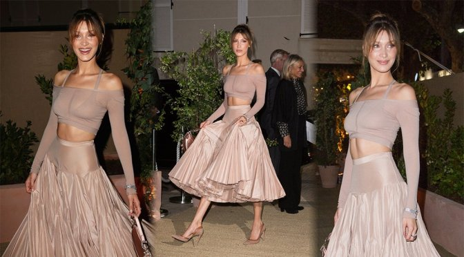 Bella Hadid – Dior And Vogue Paris Dinner in Cannes